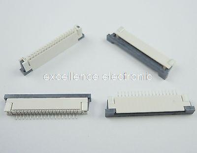 50 Pcs FPC FFC 1mm Pitch 18 Pin Drawer Type Ribbon Flat Connector Bottom Contact cloukeu 10pcs fpc ffc connector cable socket 0 5mm 24pin clamshell bottom contact type