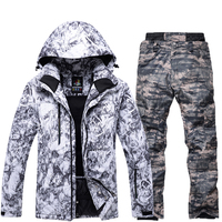 Single And Double Ski Snow Jacket Men Super Warm Waterproof Male Snowboard Jackets and Pants Suit Winter Men's Skiing Clothes