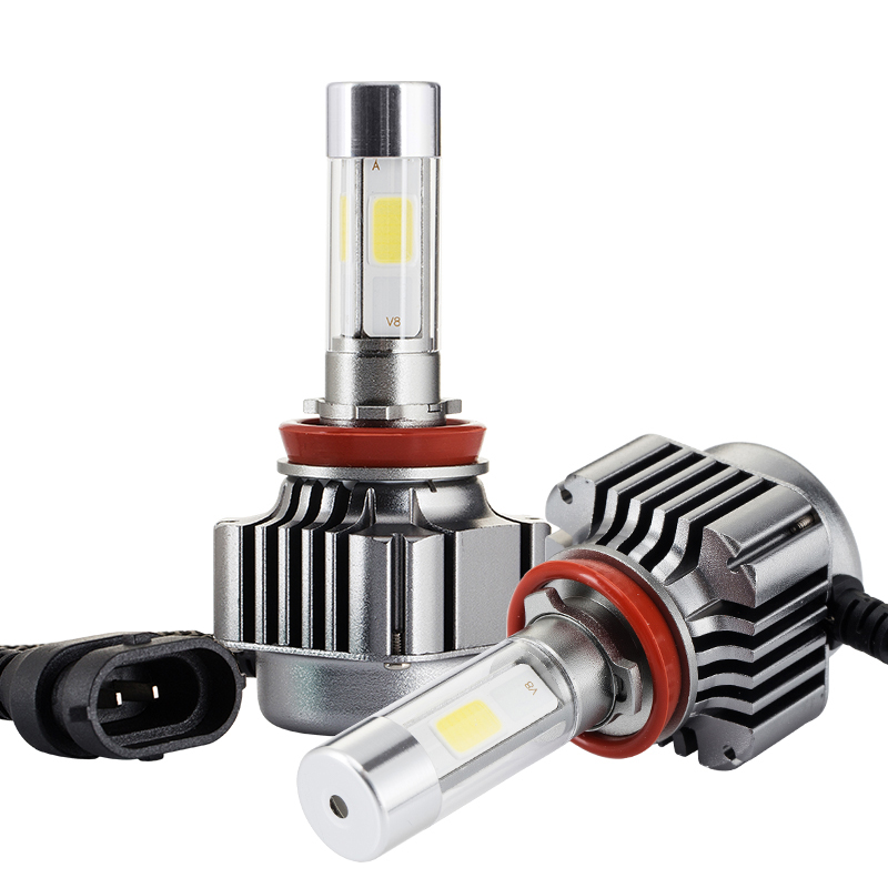 2 pcs Mobil Dipimpin Lampu H1 / H4 / H7 / H11 Hi-Lo COB Beam 12 V - Lampu mobil - Foto 2