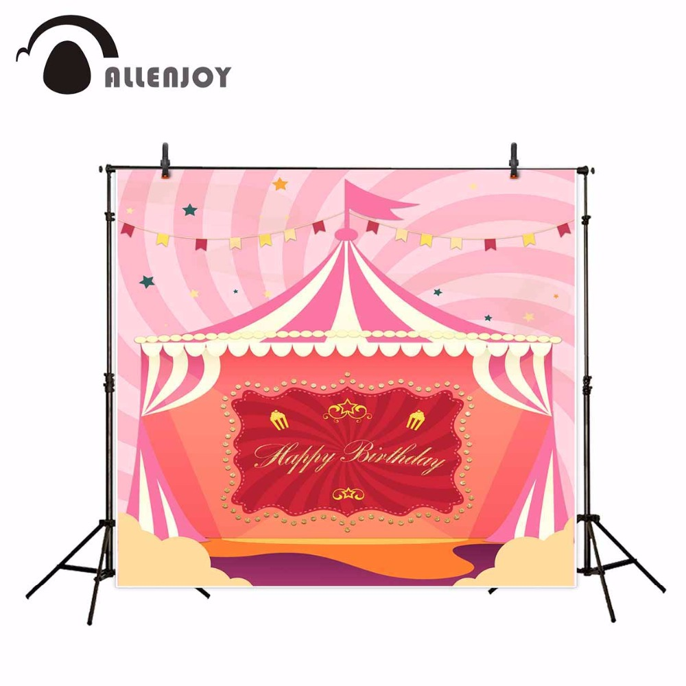 Allenjoy children circus birthday background pink stripes photo backdrops cartoon stars flag cute baby shower photography allenjoy photography backdrops pink curtains stripes birthday background customize photo booth for a photo shoot vinyl backdrops