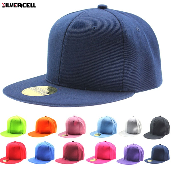 Fashion Adjustable Men Women   Baseball     Cap   Solid Hip-Hop Snapback Flat Hat Visor