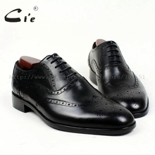 cie round toe brogues bespoke men shoe custom handmade pure genuine calf leather outsole mens dress oxford black flat shoeOX409