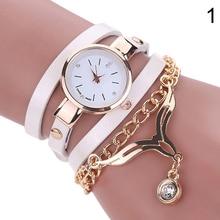 2016 Hot Sales Women  Fashion Multilayer Slim Strap Eagle Pendant Rhinestone Bracelet Watch