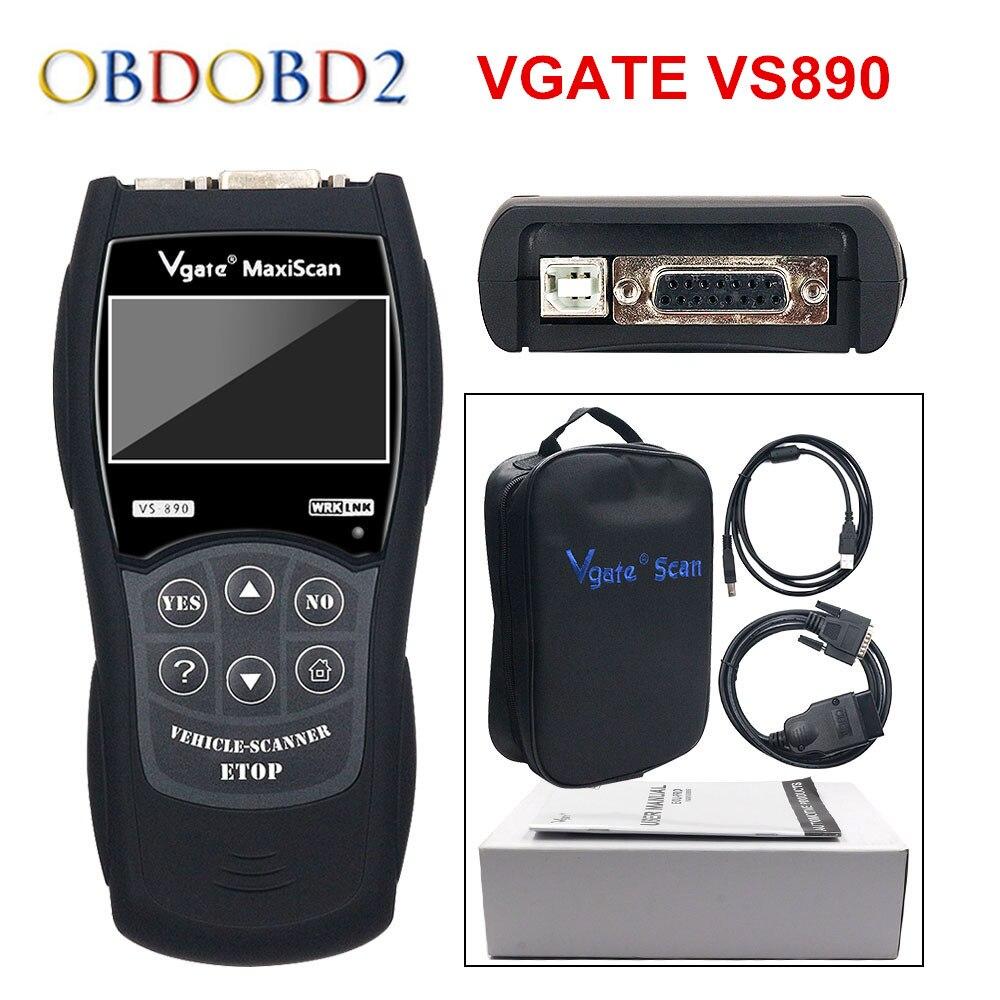 Newest VS890 / XD601 Universal Auto Diagnostic Scanner Vgate VS890 OBD2 CAN-BUS Fault Car Code Reader VS-890 Multi-Languages