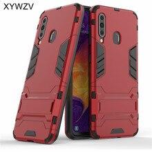 For Samsung Galaxy A60 Case Armor Soft Silicone Rubber Hard PC Phone Cover Fundas