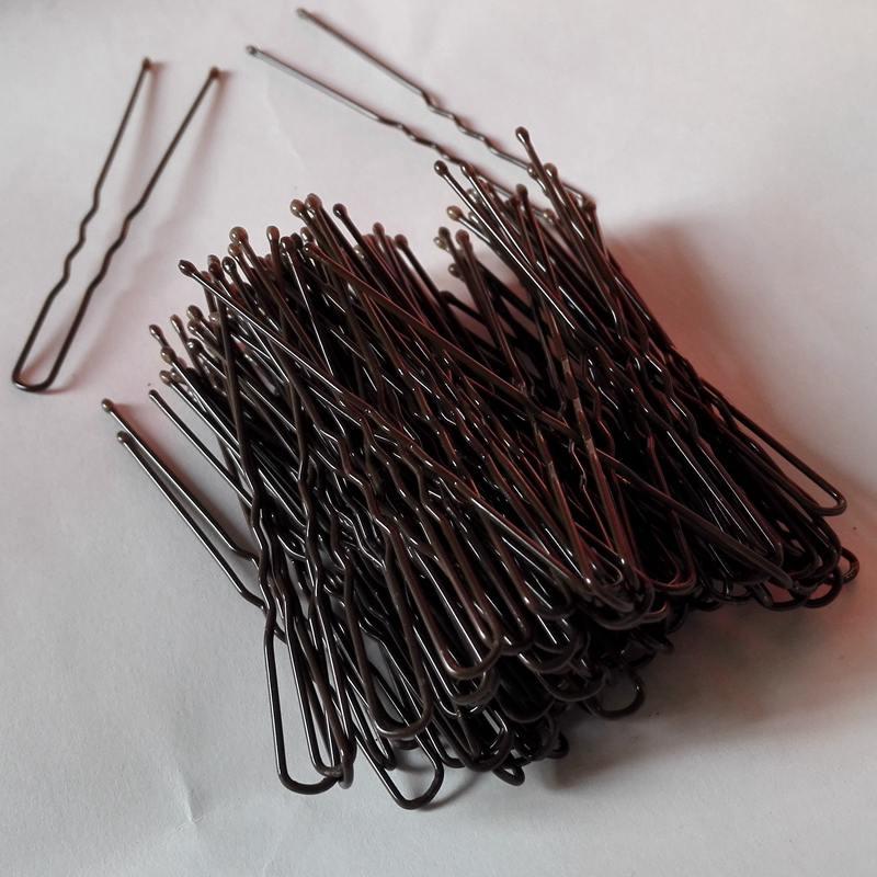 200pcs/lot Dark Brown Plated Thin U Shape Hair Pin Steel Material Clips Barrette