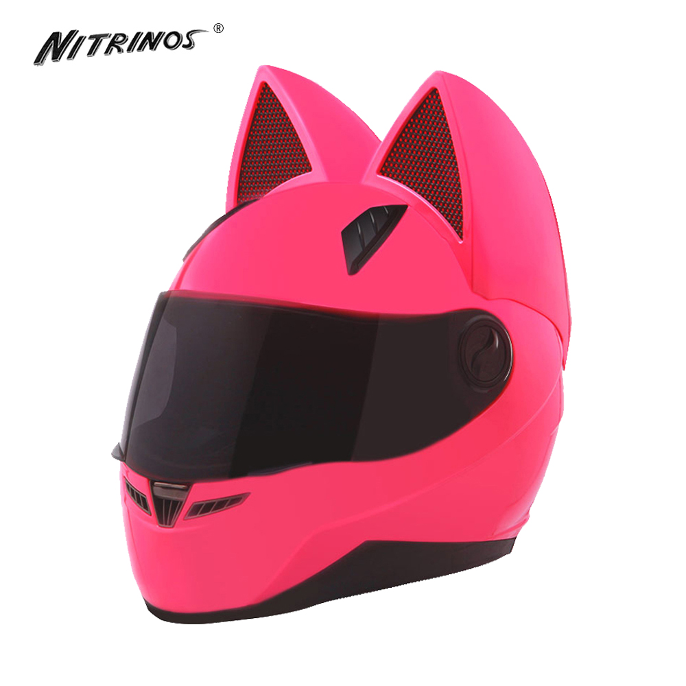 Womens Black Motorcycle Helmet