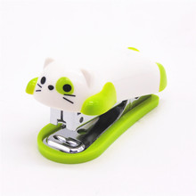 1pcs mini kitten stapler cartoon office school supplies stationery paper clip clip