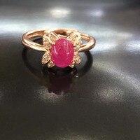 2017 Ци xuan_fashion jewelry_red камень простые элегантные женские rings_rose золото Цвет модные красные rings_manufacturer непосредственно продаж