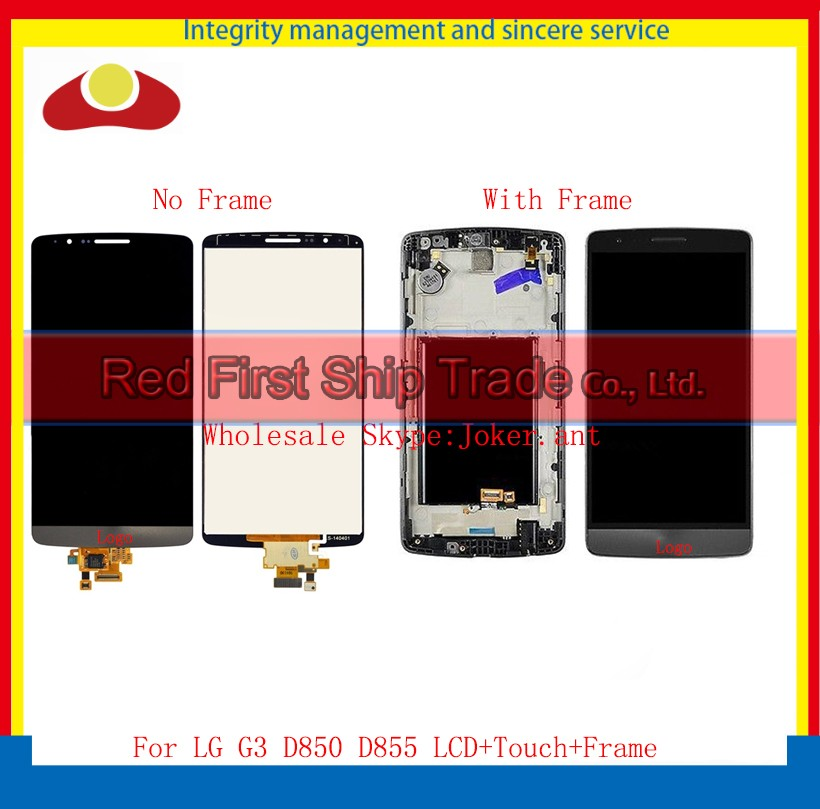 10Pcs/lot DHL EMS High Quality 5.5 For LG G3 D850 D855 Full Lcd Display Touch Screen Digitizer Assembly Complete With Frame 50pcs dhl ems high quality black for lg