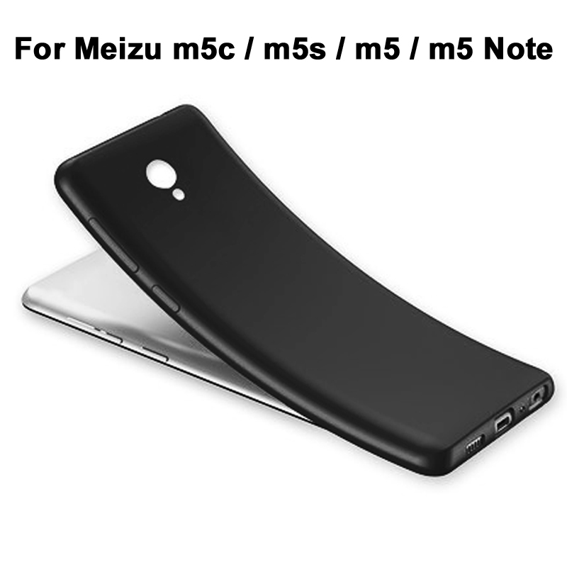 گوشی Meizu m5s Case Luxury Matte Shockproof Meizu m5c Case Silicone Cover Meizu m5 Note Note تلفن تلفن محافظ پشت جلد