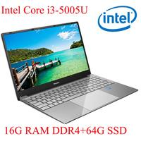 P3 06 16G RAM 64G SSD I3 5005U Notebook Laptop Ultrabook Backlit IPS WIN10 keyboard and OS language available for choose