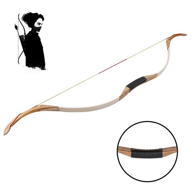 Archery Hunting Recurve Longbow Professional Shooting Laminated Horsebow Cowhide Riser Bow