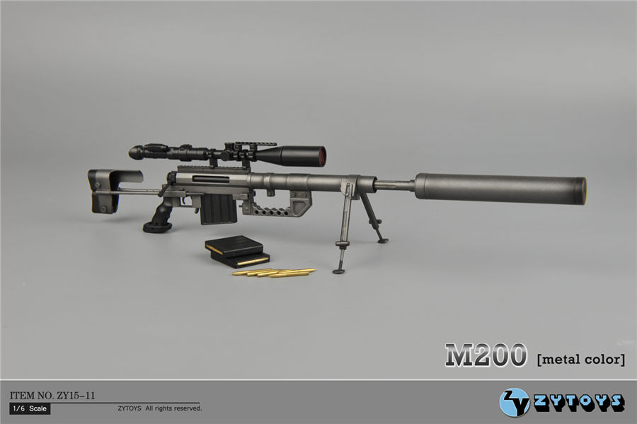 1:6 Scale Metal Color CheyTac Intervention M-200 Sniper Rifle Weapon Model Toys ZY15-11 for 12 Action Figure Accessories 1 6 scale metal color cheytac intervention m 200 sniper rifle weapon model toys zy15 11 for 12 action figure accessories