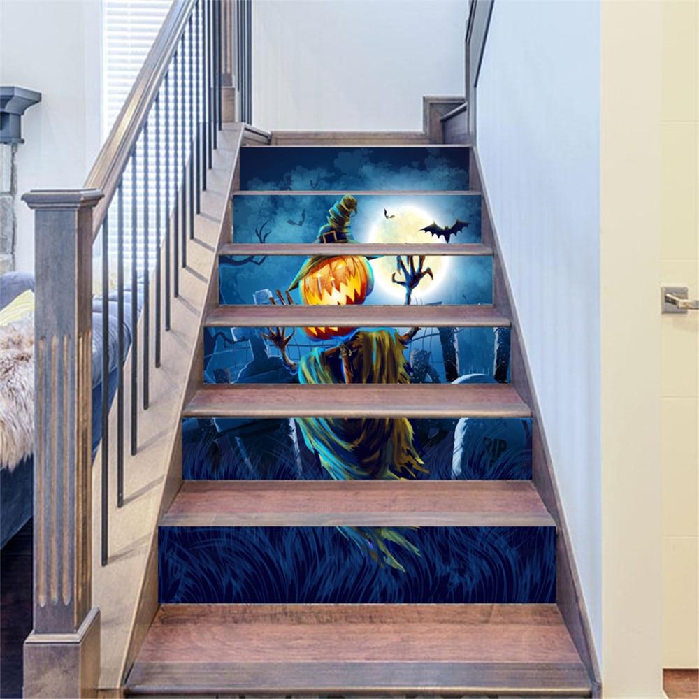 € 12.19 38% de réduction|3D autocollants d\'escalier noël bonhomme de neige  escaliers autocollants plancher mur décor Stickers autocollant salon ...