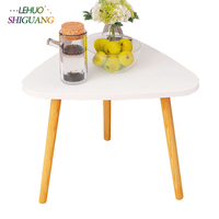 Nordic style Solid wood coffee table triangle Tea table fashion Living Room small table living room Furniture