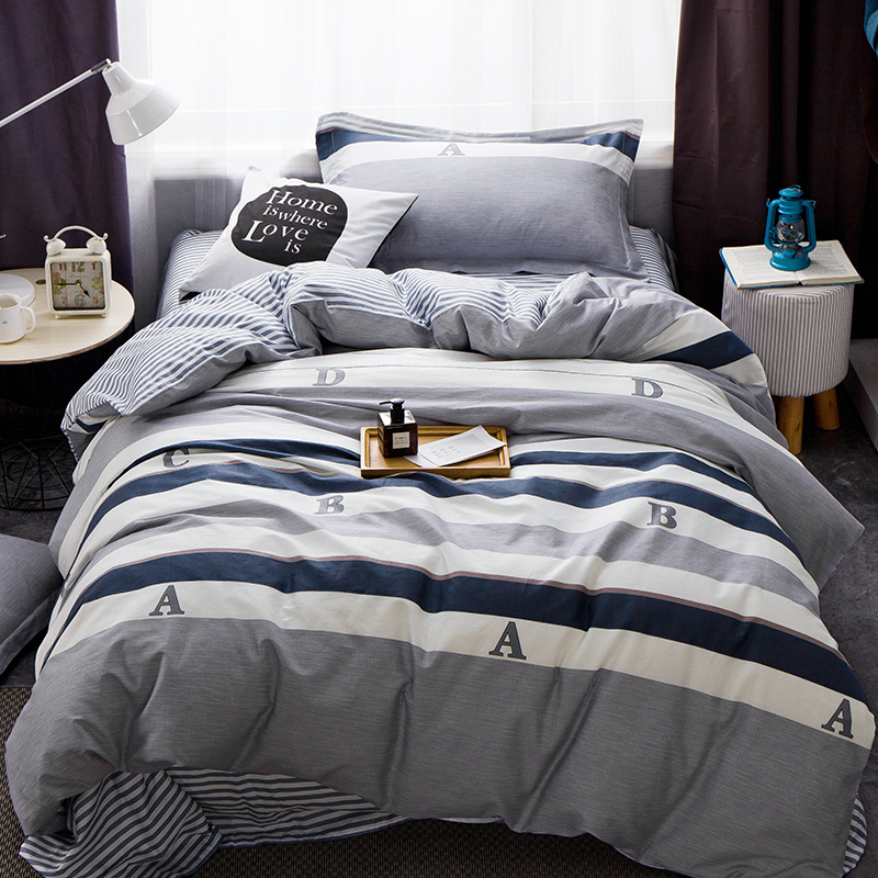 100 cotton grey duvet cover set for bed sheets soft pillow case modern duvet covertwin size bedding set - Modern Duvet Covers