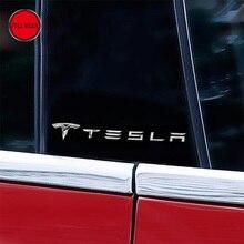 Araba Vücut Sticker Alu Dekorasyon Dekor Tesla Model S için Araba Pencere Sticker Dış Aksesuarlar 2 adet Paketi
