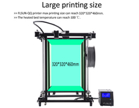 Flsun G 3D Printer Large Printing Area 320*320*460mm High precision Support Flexibility Pre assembly Metal Structure
