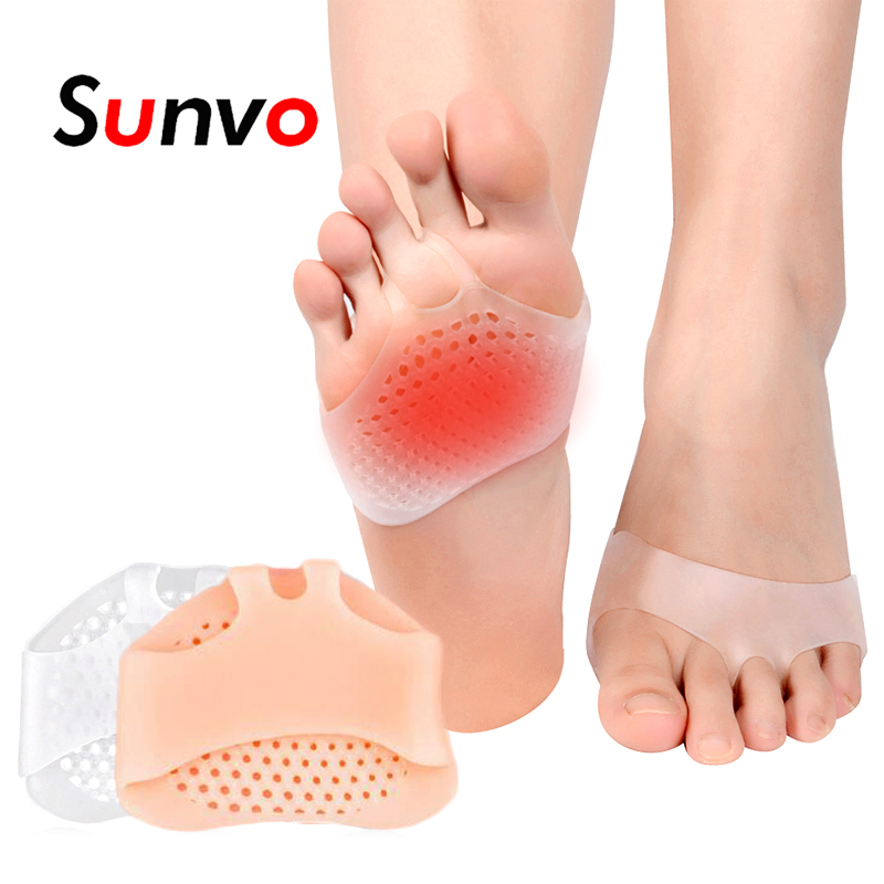2X Gel Silicone Foot Forefoot Half Sole Insoles Shoes Care Cushion Pad Insole