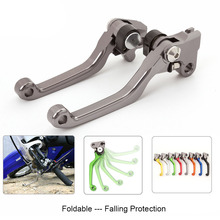 цена Motocross Pit Bike Dirt CNC Foldable Pivot Brake Clutch Lever For GAS EC 2T 4T FSE FSR Husqvarna RR RS 4T