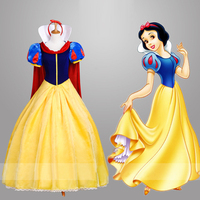 Top quality Adult Snow White Fancy Dress For Women movie Cosplay Costume Princess Fairytale Snow White Halloween party Dress