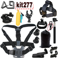 Gopro Accessories Set Helmet Harness Chest Belt Head Mount Strap Monopod For Go Pro Hero 4