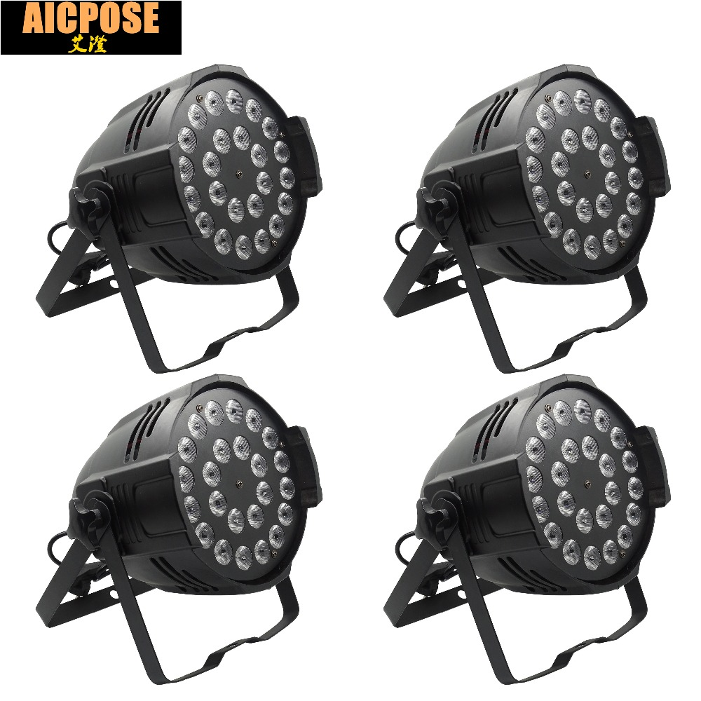 4pcs/lots 24x12w Light Aluminum LED Par 24x12W RGBW 4in1 LED Par Can Par 64 led spotlight dj projector wash lighting stage light