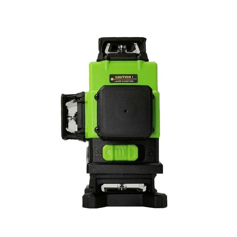 XEAST 3/4D laser ebene grüne strahl 12/16 linien ebene Automatische Selbst Nivellierung 360 Vertikale und Horizontale stick wand werkzeug