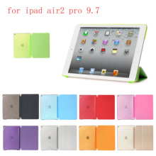 Case For iPad air2 pro 9.7 PU Leather Siamese shell Flip Smart Cover  Auto Sleep/Wake Up for A1566`A1567