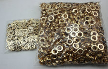 2000set 8mm plane eyelet Rose gold metal copper eyelets buttons clothes accessory handbag findings FREE SHIPPING