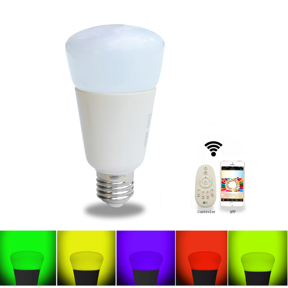 Jiawen Smart bulb, Zigbee bulb,wireless bulb, app control, remote control, work with zigbee hub of sumsung freeshipping rs232 to zigbee wireless module 1 6km cc2530 chip