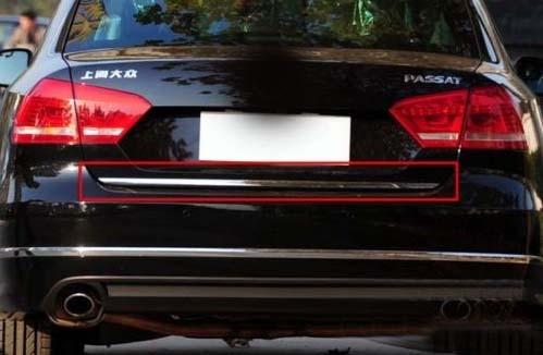 Couvercle de coffre arrière en acier inoxydable chromé pour VW Passat B7 2011 2012 2013