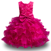 3 10 Years Kids Flower Girl Dresses For Wedding Pageant First Holy Lace Communion Dress For