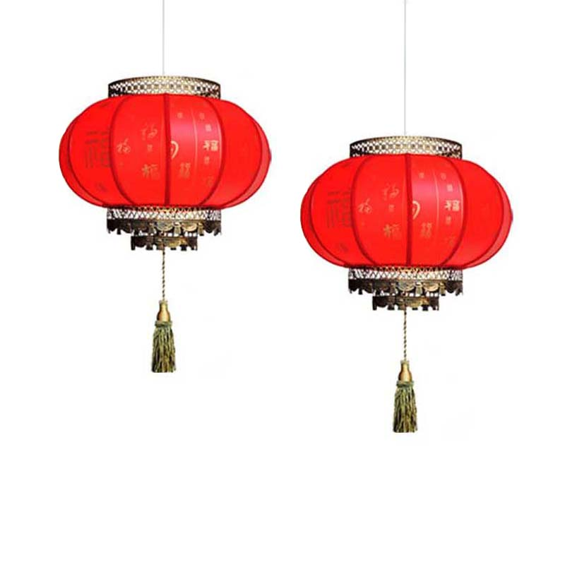 Chinese Lanterns Red Pendant Light Antique E27 Led Lights