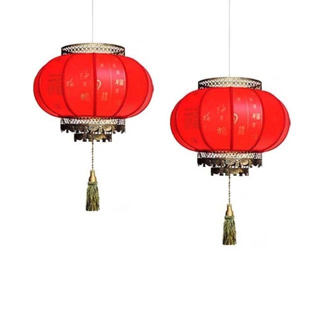 Chinese Lanterns Red Pendant Light Antique E27 Led Lights Hotel Lamp Living Room  Lights Restaurant Pendant