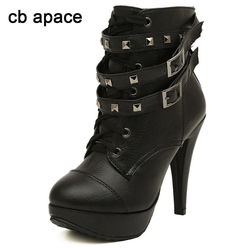 de chaussure bottines punk chaussure bottes goth paire talon DHIWeE29Y