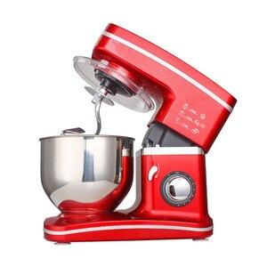 Image 1 - 1200W 5.5L misa ze stali nierdzewnej 8 prędkość do kuchni do jedzenia mikser na stojaku krem trzepaczka do jajek Blender ciasto chleb mikser maszyna do produkcji