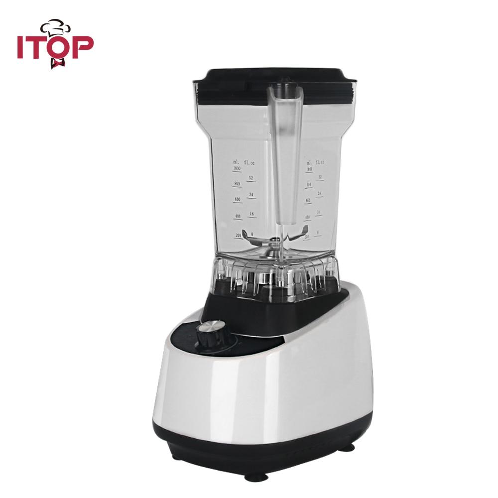 ITOP Blanc Commerciale Mélangeur Alimentaire Mélangeurs Légumes Extracteur De Jus De Fruits Milk Shake Maker Haute Vitesse Professionnel Mélangeurs