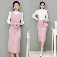 New Designer Elegant Office Ladies Autumn Spring Two Pieces Sets Work Clothing Sexy Women Slim Skirt