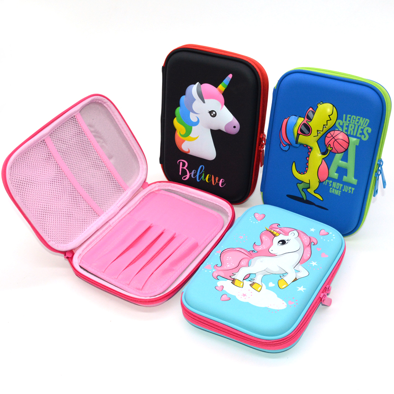 Stationery Pencil-Case Unicorn School-Supplies Flamingo Lapices Kawaii Estuche Escolar