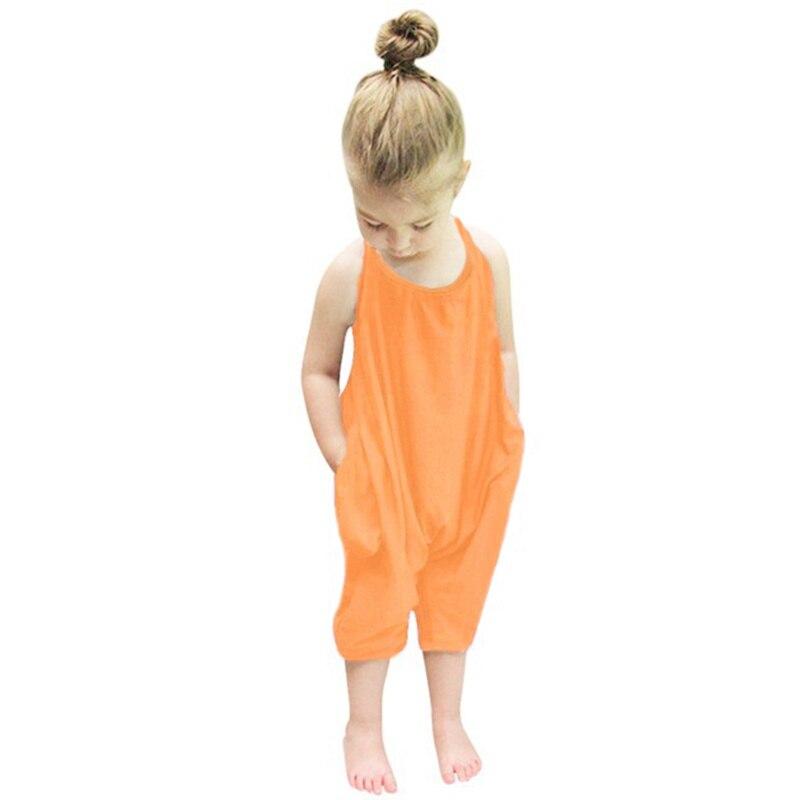 100% QualitäT Mode Baby Mädchen Kleidung Set Einteiliges Kinder Baby Mädchen Riemen Baumwolle Overalls Backless Overall Sleeveless Hosen Kostüme