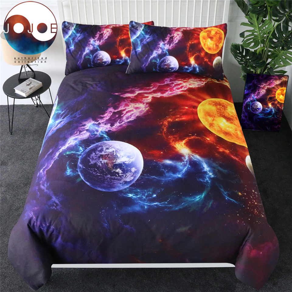 Plan of Salvation by JoJoesArt Bedding Set Planet Earth Bed Cover Galaxy Nebula Home Textiles Universe Outer Space Jogo De Cama