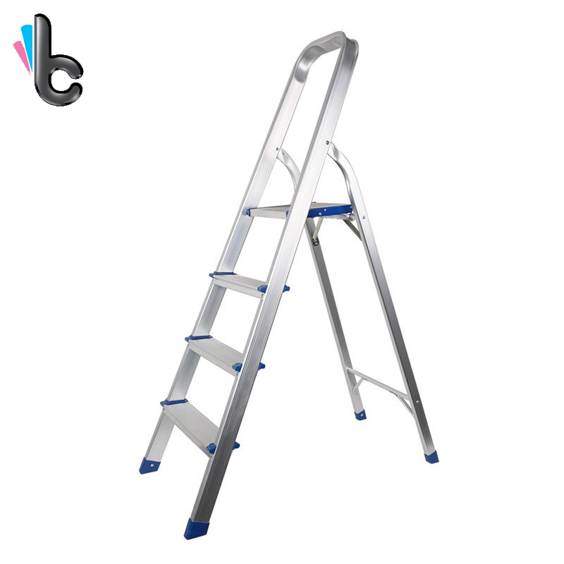 Strange Us 43 98 Aluminum Ladder Folding Step Ladder Portable 4 Step Ladder With Standing Platform Multi Use For Household Market Office In Step Stools Machost Co Dining Chair Design Ideas Machostcouk