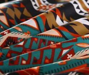 Image 5 - Bomcom Boho Stripe powłoczki etniczny Vintage Hipster Aztec duszpasterski styl ludowy czeski zestaw poszewek 100% mikrofibra