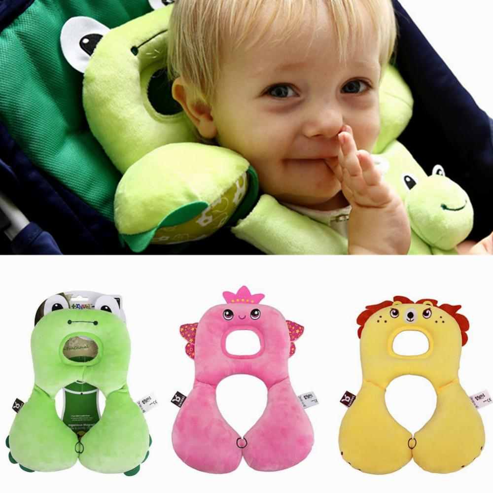 Car Seat Headrest Pillow Kids Head Support Cushion Neck Protector U-Shaped Baby Head Pillow Car Safety Seat Headrest Cushion Pad