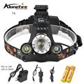 AloneFire HP90 8000Lm T6+2R5 zoom LED Rechargeable Head Torch Headlamp Flashlight Head Light +18650 battery+charger