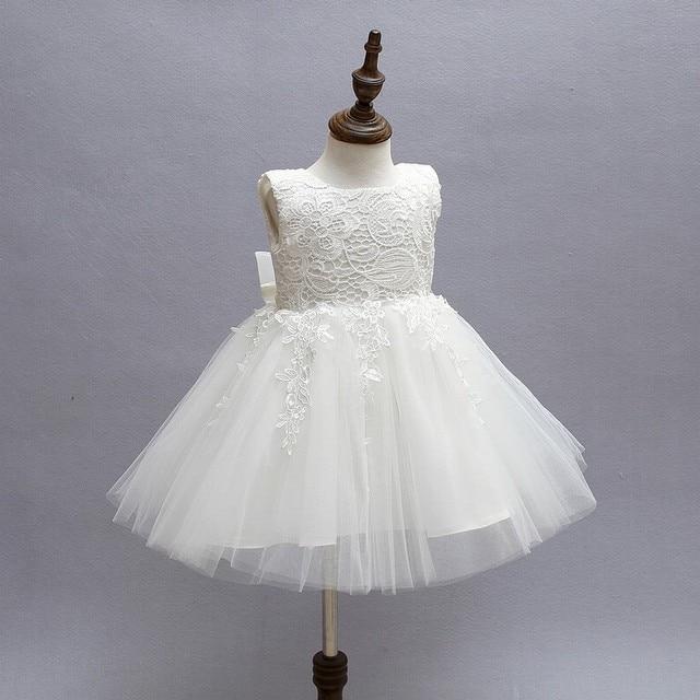 1a998442a0f3e Robes de première Communion blanches pour filles 2016 marque Tulle dentelle  infantile 1 an robe d