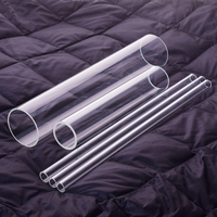 1 Pcs High Borosilicate Glass Tube Outer Diameter 80mm Full Length 200mm 250mm 300mm High Temperature