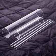 1 pièces tube en verre à haute teneur en borosilicate, O.D. 80mm,Thk. 2.8mm/5mm,L. 100mm/200mm/250mm/300mm, tube en verre résistant aux hautes températures